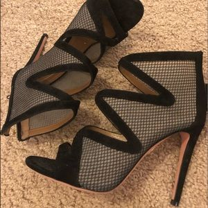Authentic Aquazzura Peep toe booties size 37.5
